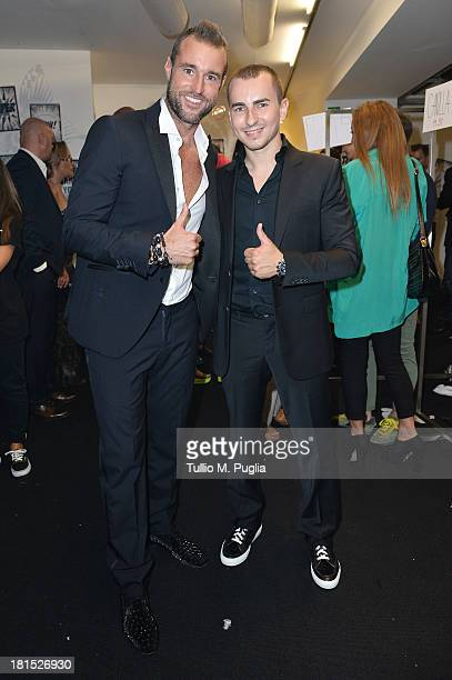 Philipp Plein and Jorge Lorenzo attends the Philipp Plein Event Milan Fashion Week Womenswear Spring/Summer 2014 at Piazza Vetra on September 21 2013...