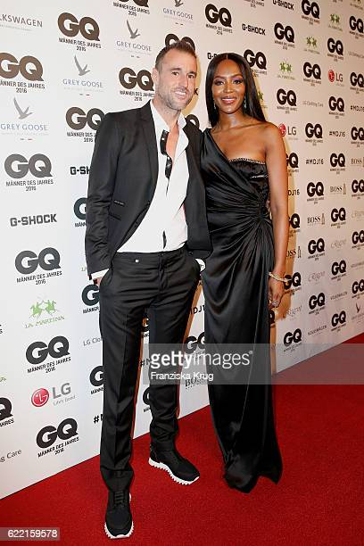 Philipp Plein and Naomi Campbell arrive at the GQ Men of the year Award 2016 at Komische Oper on November 10 2016 in Berlin Germany