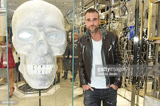 Philipp Plein attends a cocktail party hosted by Philipp Plein to celebrate the opening of the Philipp Plein London boutique on December 15 2016 in...