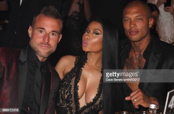 Philipp Plein Nicki Minaj and Jeremy Meeks attend the amfAR Gala Cannes 2017 at Hotel du CapEdenRoc on May 25 2017 in Cap d'Antibes France