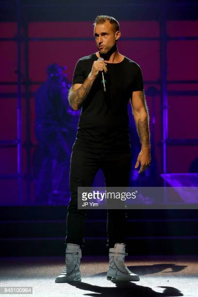 Philipp Plein on stage at the Philipp Plein fashion show during New York Fashion Week The Shows at Hammerstein Ballroom on September 9 2017 in New...