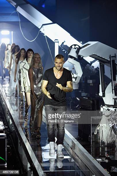Philipp Plein walks the runway after his fashion show as part of Milan Fashion Week Spring/Summer 2016 on September 23 2015 in Milan Italy