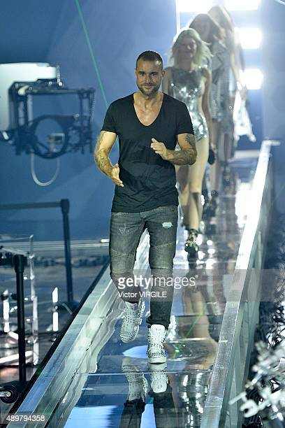 Philipp Plein walks the runway during the Philipp Plein fashion show as part of Milan Fashion Week Spring/Summer 2016 on September 23 2015 in Milan...