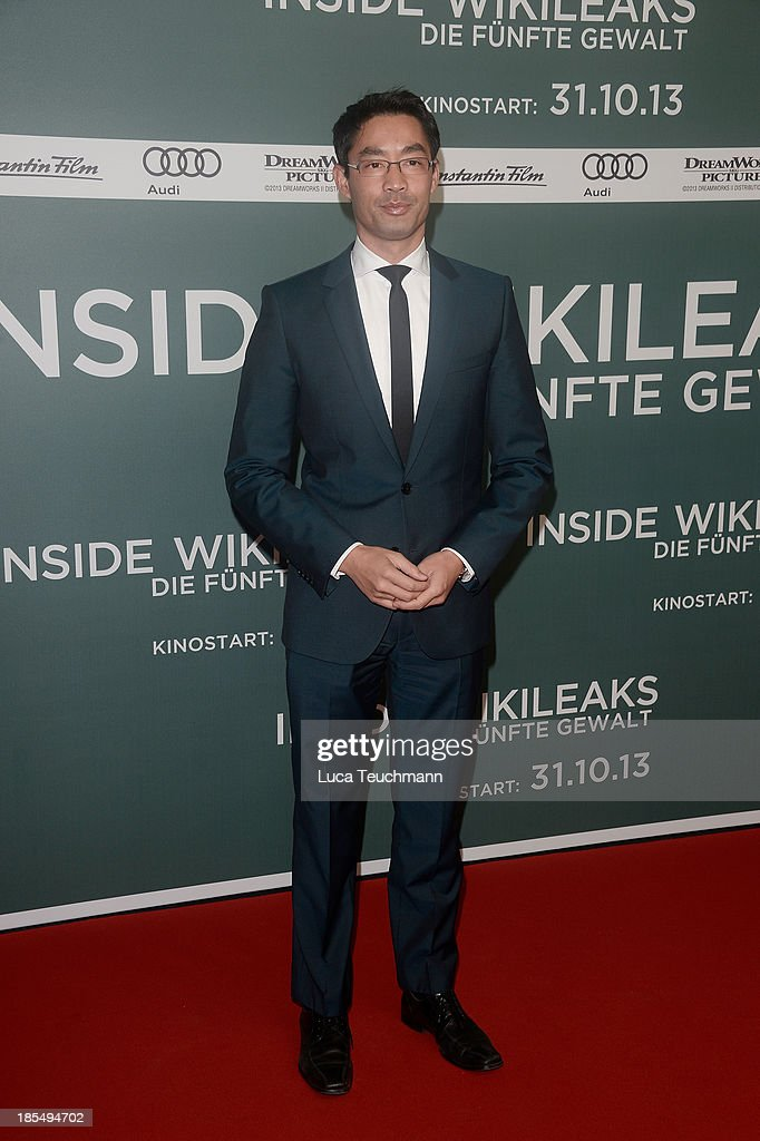 Philipp Roesler attends the 'Inside Wikileaks' Germany Premiere at Kulturbrauerei on October 21, 2013 in Berlin, Germany.
