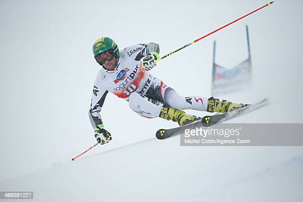 Philipp Schoerghofer of Austria competes during the Audi FIS Alpine Ski World Cup MenÕs Giant Slalom on February 02 2014 in St Moritz Switzerland