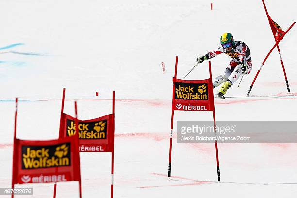 Philipp Schoerghofer of Austria competes during the Audi FIS Alpine Ski World Cup Finals Nations Team Event on March 20 2015 in Meribel France