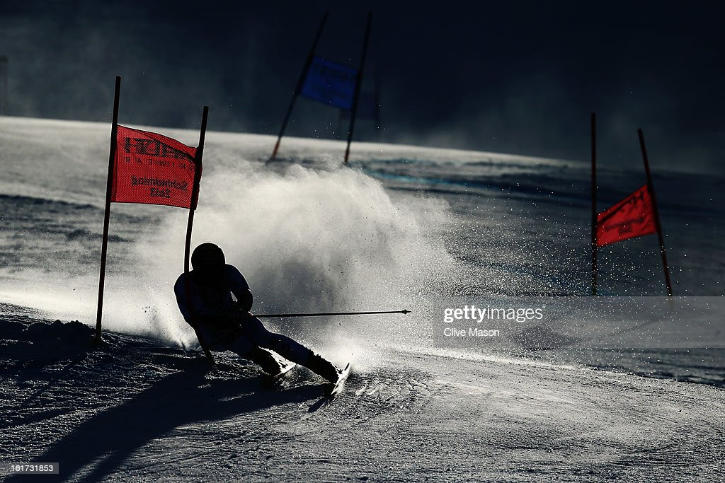Philipp Schoerghofer of Austria skis in the Men's Giant Slalom during the Alpine FIS Ski World Championships on February 15, 2013 in Schladming, Austria.