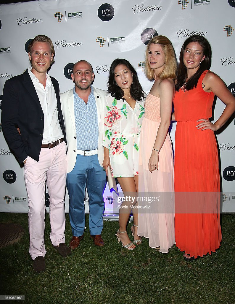 Philipp Triebel, Beri Meric, Bo Kim, Lara Meric, and Julia Sommer attend the 2014 Hamptons Summer Soiree Charity Benefit at Private Residence on August 23, 2014 in Southampton, New York.