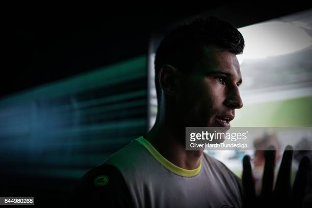 Philipp Tschauner of Hannover after the Bundesliga match between VfL Wolfsburg and Hannover 96 at Volkswagen Arena on September 9 2017 in Wolfsburg...