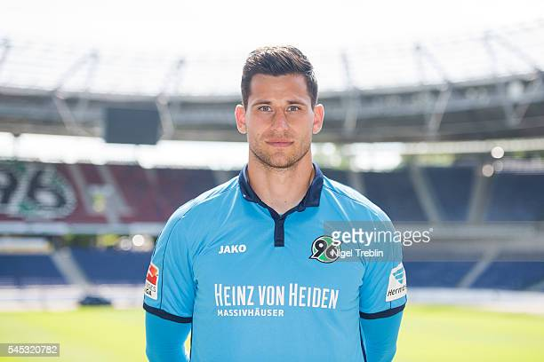 Philipp Tschauner poses during the team presentation of Hannover 96 on July 7 2016 in Hanover Germany