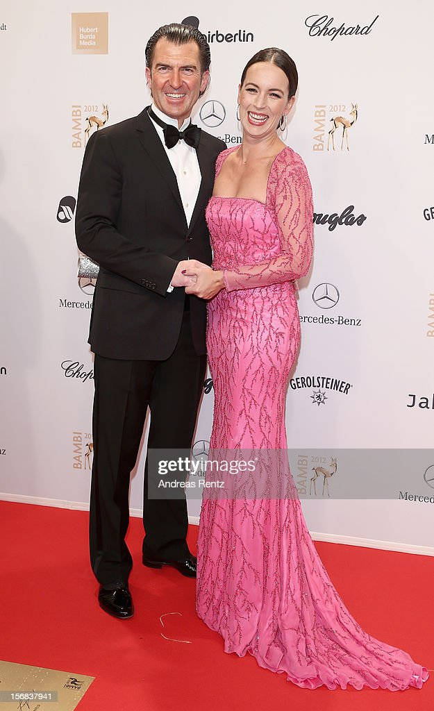 Philipp Welte and Judy Weiss attends 'BAMBI Awards 2012' at the Stadthalle Duesseldorf on November 22, 2012 in Duesseldorf, Germany.