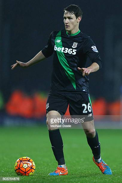 Philipp Wollscheid of Stoke City during the Barclays Premier League match between West Bromwich Albion and Stoke City at The Hawthorns on January 2...