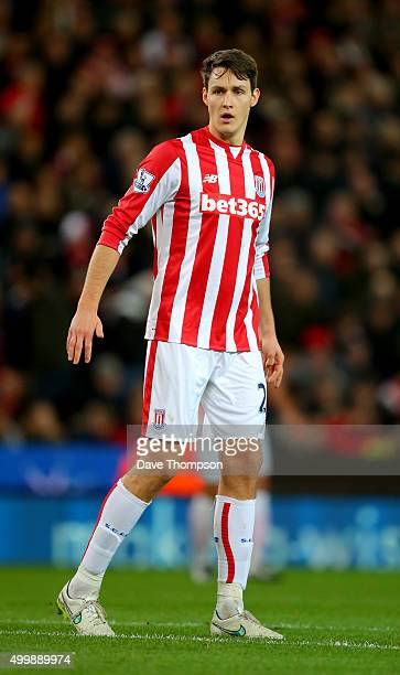 Philipp Wollscheid of Stoke City during the Capital One Cup match between Stoke City and Sheffield Wednesday at the Britannia Stadium on December 1...