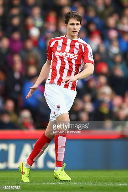 Philipp Wollscheid of Stoke City in action during the Barclays Premier League match between Stoke City and Queens Park Rangers at Britannia Stadium...