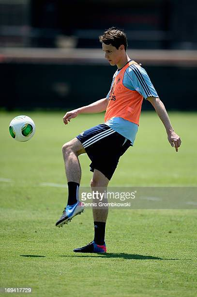 Philipp Wollscheid practices during a training session at Barry University on May 24 2013 in Miami Florida