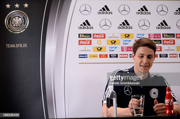 Philipp Wollscheid reacts during a press conference at team hotel St Regis Bal Harbour on May 23 2013 in Miami Florida