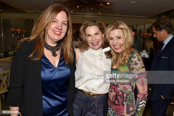Philippa Brathwaite Cathy Graham and Denise Kazmier attend the launch of Second Bloom Cathy Graham's Art of the Table hosted by Joanna Coles and...