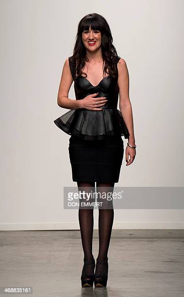 Philippa Galasso greets the guests as part of show called Fashion Palette during the MercedesBenz Fashion Week Fall/Winter 2014 shows February 11...