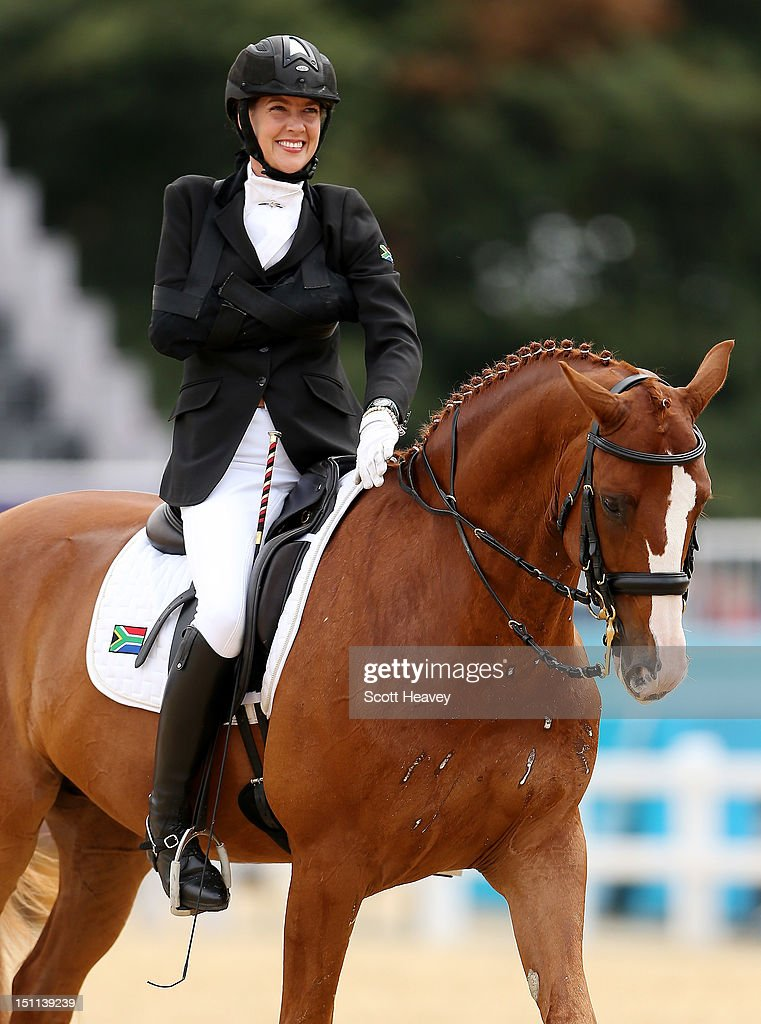Philippa Johnson of South Africa during the Dressage Individual Championship Test Grade IV on day 4 of the London 2012 Paralympic Games at Greenwich...