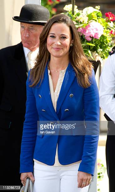 Philippa Middleton departs the Goring Hotel in London on April 30 2011 in London England