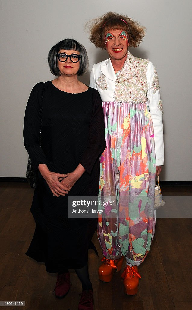 Philippa Perry and Grayson Perry attend the Annual Schools auction dinner at Burlington House on March 25, 2014 in London, England.>>