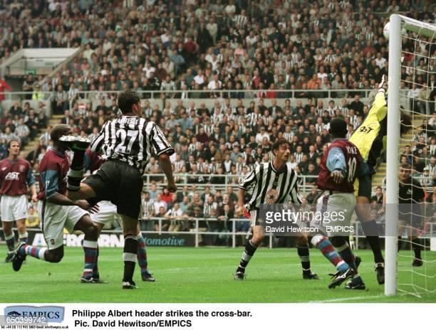 Philippe Albert header strikes the crossbar