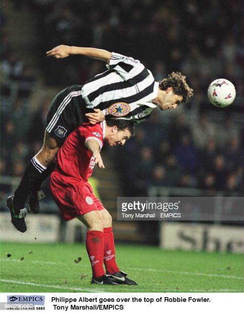 Philippe AlbertNewcastle United goes over the top of Robbie FowlerLiverpool