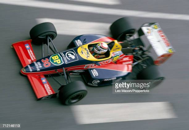 Philippe Alliot of France in action driving a Lola LC88 with a Cosworth V8 engine for Team Larrousse Calmels during the Monaco Grand Prix in Monte...