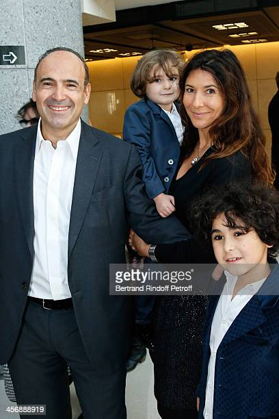 Philippe and Karine Journo with their children JoachimEthan and EliottJoseph attend the 'Reves d'Enfants' Arop charity event at Opera Bastille on...