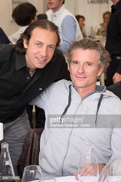 Philippe Candeloro and Denis Brogniart attend Roland Garros Tennis French Open 2013