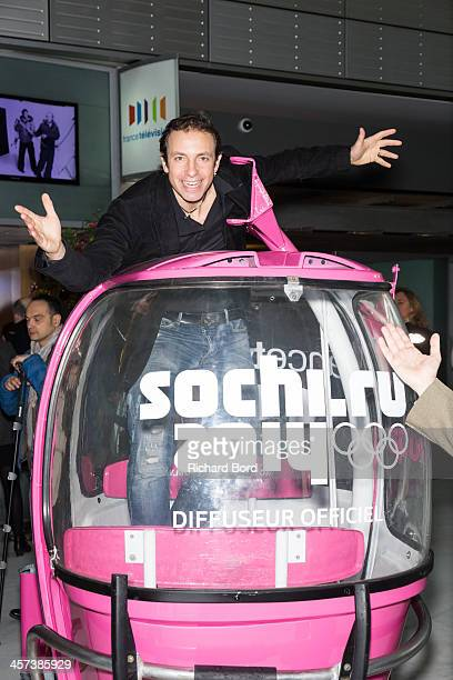 Philippe Candeloro attends the presentation of French TV France Television's staff members who will cover the 2014 Sochi Olympic Games on December 17...