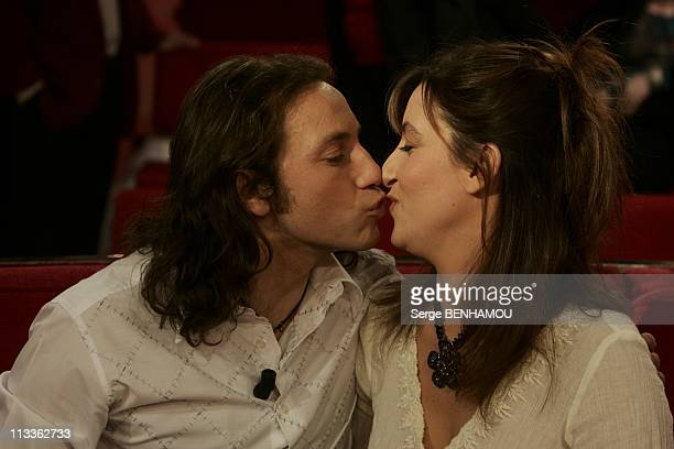 Philippe Candeloro On Vivement Dimanche Tv Show On February 7Th 2005 In Paris France Philippe And Olivia Candeloro