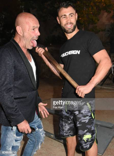 Philippe Corti and champion Yohan Lindon attend the Fight Night Gala at La Citadelle de Saint Tropez on August 4 2017 in SaintTropez France