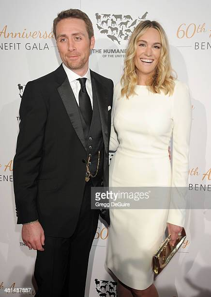 Philippe Cousteau Jr and TV personality Ashlan Gorse arrive at The Humane Society Of The United States 60th anniversary benefit gala at The Beverly...