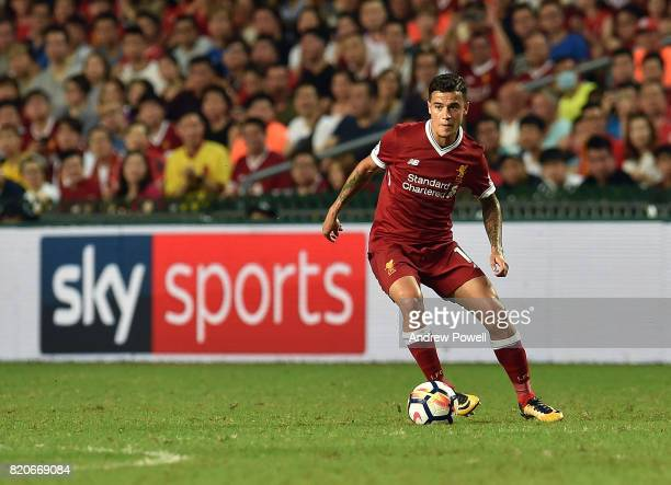 Philippe Coutinho of Liverpool during the Premier League Asia Trophy match between Liverpool FC and Leicester City FC at the Hong Kong Stadium on...