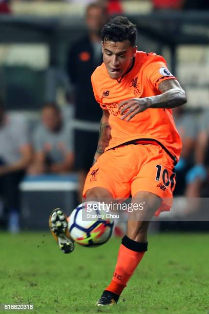 Philippe Coutinho of Liverpool in action during the Premier League Asia Trophy match between Liverpool and Crystal Palace at Hong Kong Stadium on...