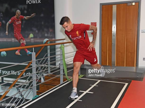 Philippe Coutinho of Liverpool return for his first day back at Melwood Training Ground on July 11 2017 in Liverpool England