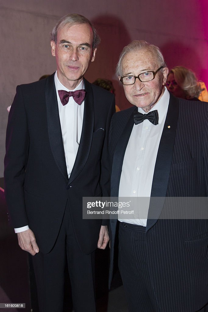 Philippe Dehennin, CEO BMW Switzerland (L) and Gaston Barras, committee member of the 'Nuit des Neiges' foundation, attend the 30th edition of 'La Nuit Des Neiges' Charity Gala on February 16, 2013 in Crans-Montana, Switzerland.