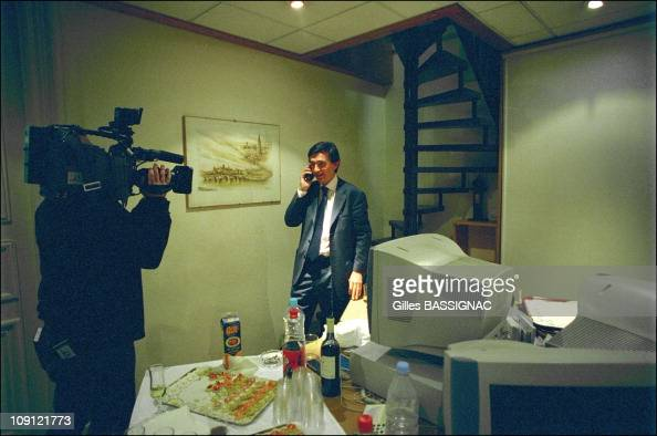 Philippe DousteBlazy Wins The Municipal Election In Toulouse On March 18Th 2001 In Toulouse France