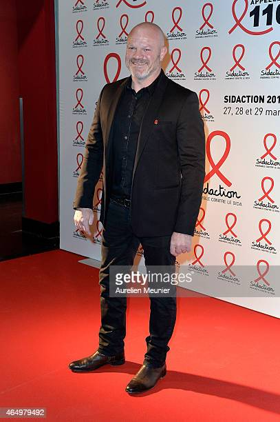 Philippe Etchebest attends the Sidaction 2015 at Musee du Quai Branly on March 2 2015 in Paris France