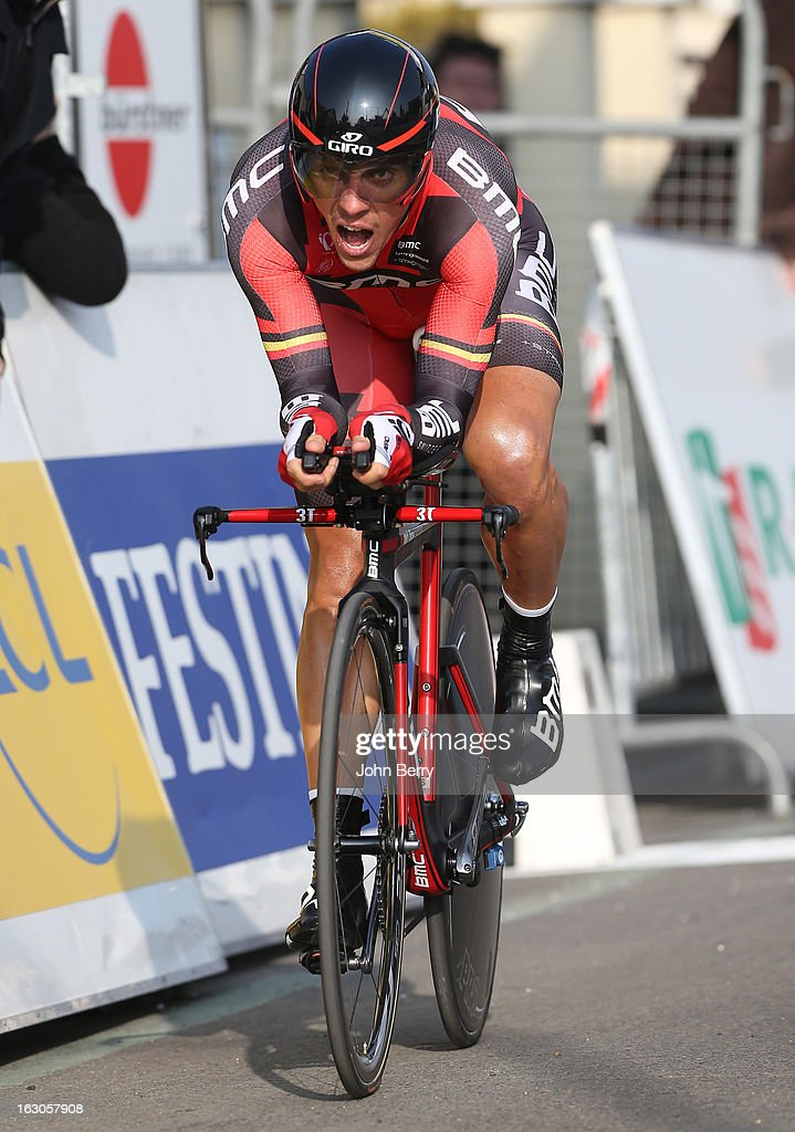 <a gi-track='captionPersonalityLinkClicked' href=/galleries/search?phrase=Philippe+Gilbert&family=editorial&specificpeople=578487 ng-click='$event.stopPropagation()'>Philippe Gilbert</a> of Belgium and BMC Racing Team rides during the prologue of 2.9 km of the 2013 Paris-Nice on March 3, 2013 in Houilles, Yvelines, France.