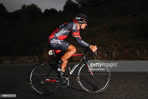 Philippe Gilbert of Belgium and Team BMC in action on stage seven of the 2015 ParisNice from Nice to Col d'Eze on March 15 2015 in Nice France