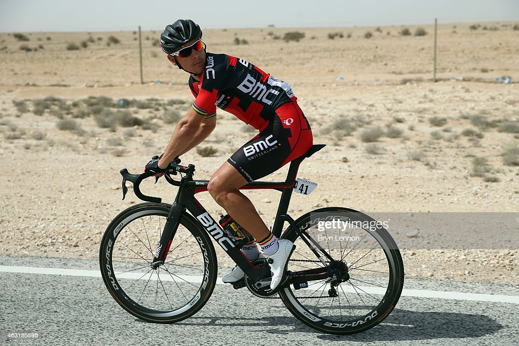 <a gi-track='captionPersonalityLinkClicked' href=/galleries/search?phrase=Philippe+Gilbert&family=editorial&specificpeople=578487 ng-click='$event.stopPropagation()'>Philippe Gilbert</a> of Belgium and the BMC Racing Team in action on stage four of the 2015 Tour of Qatar, a 165km road stage from Al Thakhira to Mesaieed on February 11, 2015 in Mesaieed, Qatar.