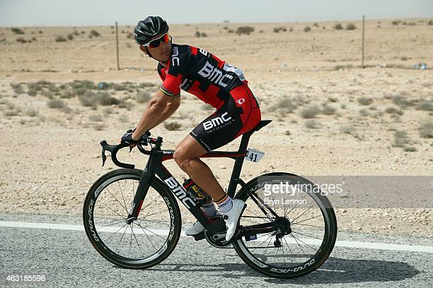 Philippe Gilbert of Belgium and the BMC Racing Team in action on stage four of the 2015 Tour of Qatar a 165km road stage from Al Thakhira to Mesaieed...