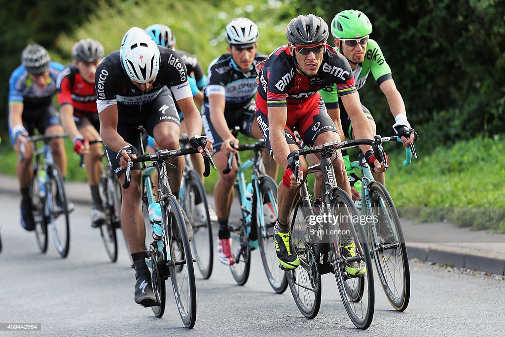 <a gi-track='captionPersonalityLinkClicked' href=/galleries/search?phrase=Philippe+Gilbert&family=editorial&specificpeople=578487 ng-click='$event.stopPropagation()'>Philippe Gilbert</a> of Belgium and the BMC Racing Team rides at the front of the breakaway during the Prudential RideLondon-Surrey Classic from the Queen Elizabeth Olympic Park to The Mall on August 10, 2014 in London, England.