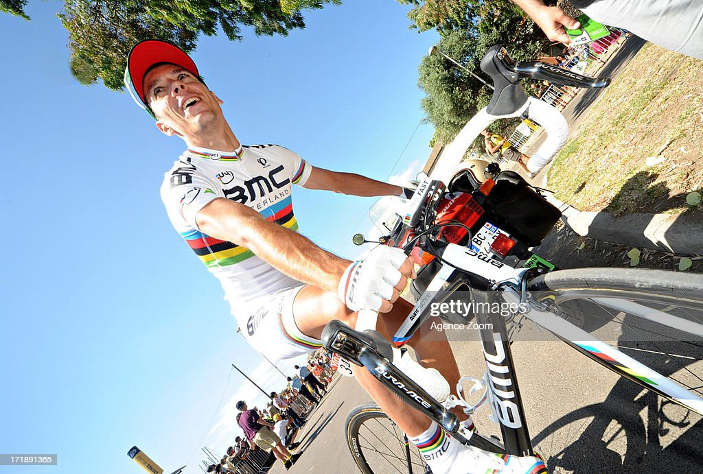 Philippe Gilbert of Team Bmc Racing during Stage 1 of the Tour de France from Porto-Vecchio to Bastia on June 29, 2013 in Bastia, France..