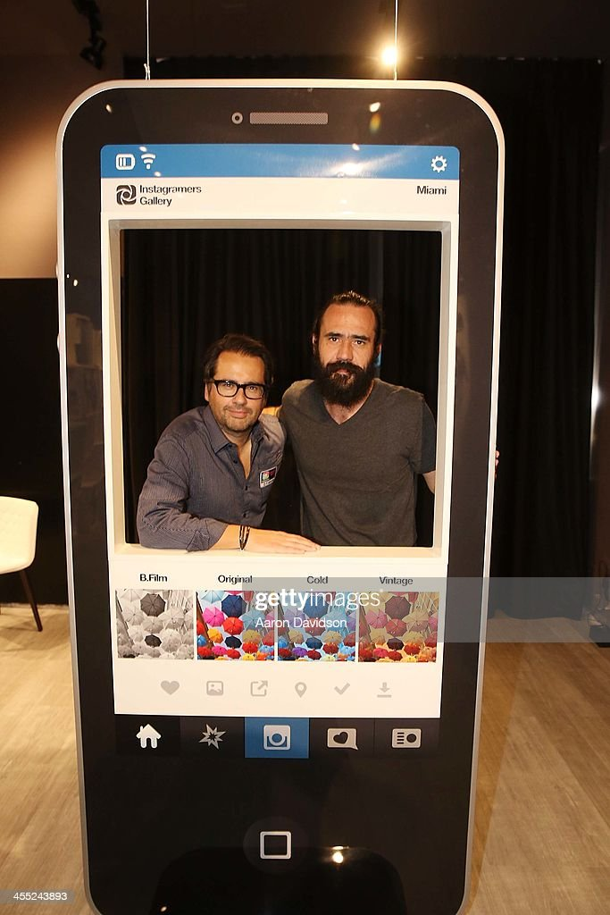 Philippe Gonzalez and Jorge Martinez at the world's first Instagramers Gallery on December 11, 2013 in Miami, Florida.