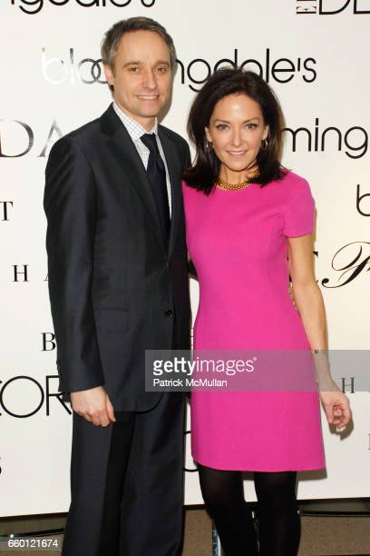 Philippe Guelton and Margaret Russell attend ELLE DECOR and BLOOMINGDALE'S Celebrate Reopening of Furniture Department With Auction Benefitting CFDA...