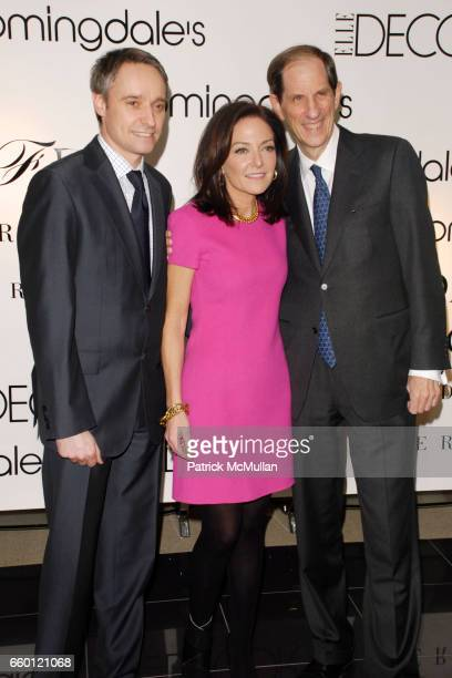 Philippe Guelton Margaret Russell and Michael Gould attend ELLE DECOR and BLOOMINGDALE'S Celebrate Reopening of Furniture Department With Auction...