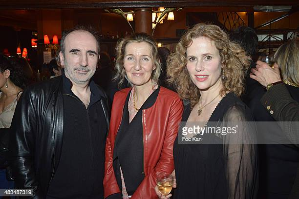 Philippe Harel Sylvie Bourgeois Harel and Florence Darel attend La Closerie Des Lilas Literary Awards 2014 7th at La Closerie Des Lilas on April 8...